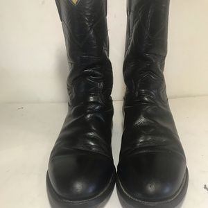 Justin Leather Cowgirl Ropers Boots sz 8.5